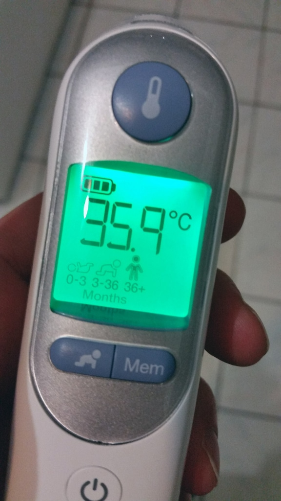 Display Braun Thermoscan 7 nach Temperaturmessung