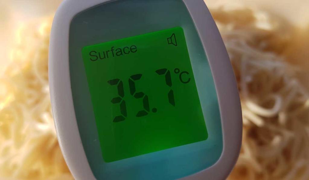 Intey Thermometer eignet sich auch zum Messen von Speisentemperaturen